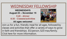Wednesday Fellowship Fall 2017